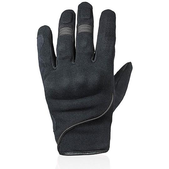 Gants de moto d'été de fléchettes en tissu avec des protections d'éclaboussure noires certifiées