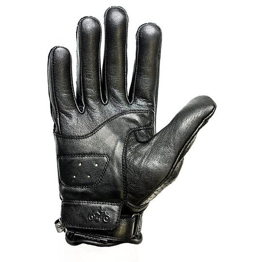 Gants de moto d'été en cuir perforé Helstons modèle Charly noir