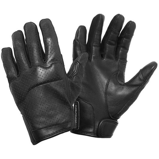 Gants de moto d'été en cuir urbain Toucan modèle nouveau shorty