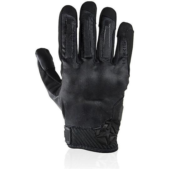 Gants de moto d'été en tissu Harisson Score noir