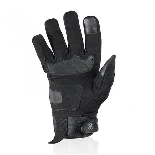 Gants de moto d'été en tissu Harisson SPLASH EVO Kid Black