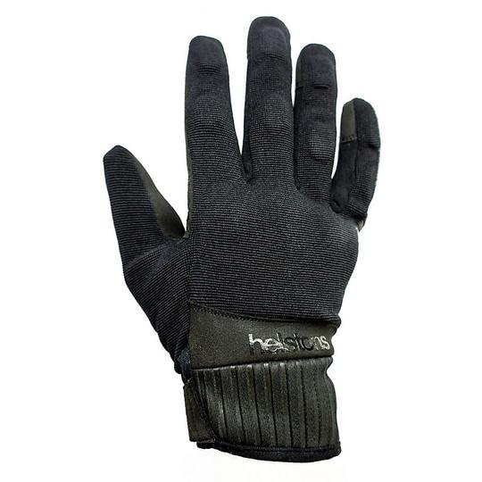 Gants de moto d'été en tissu Helstons modèle sportif noir