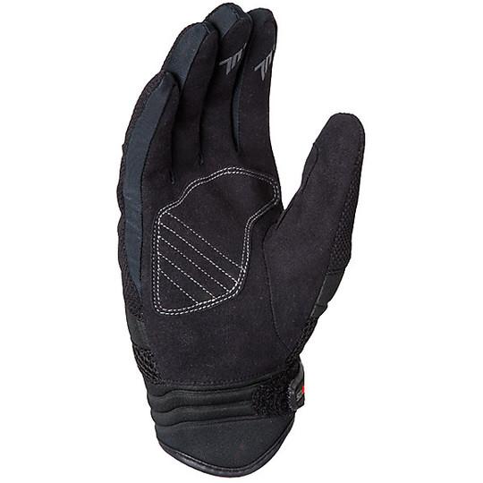 Gants de moto d'été en tissu homologué Seventy C18 noir