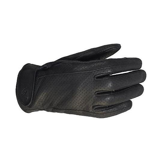 Gants de moto d'été Ixon en cuir RS Cruize Air noir