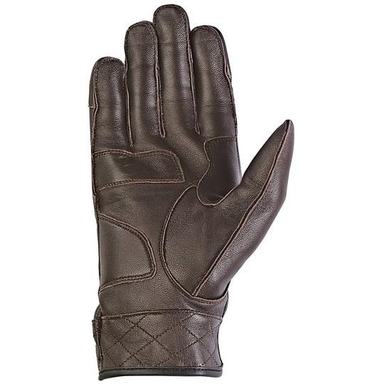 Gants de moto d'été Ixon en cuir véritable avec protections Rs Venge HP Brown