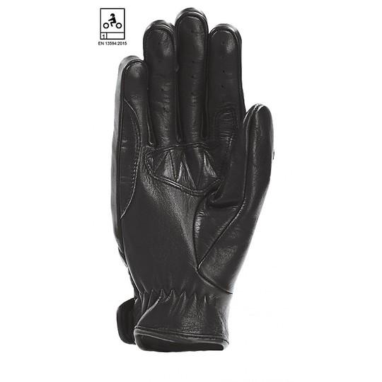 Gants de moto dans les atmosphères Oj STROKE CE de tissu noir approuvé