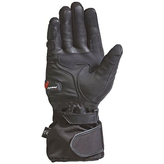 Gants de moto d'hiver en tissu Ixon PRO RESCUE CE Noir Jaune vif