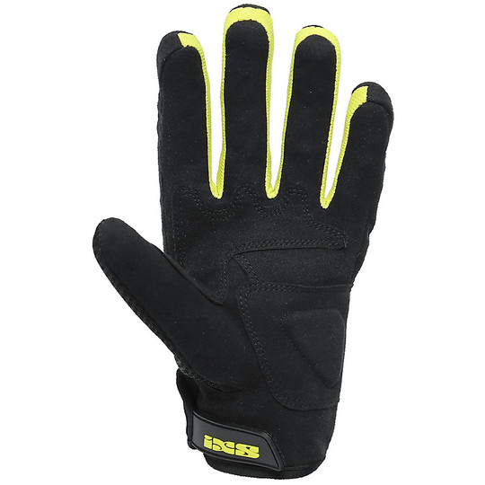 Gants de moto en tissu Ixs City Samur Evo noir jaune approuvé
