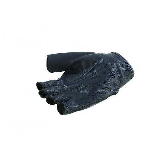 Gants demi-doigts en cuir perforé OJ FRESH Noir