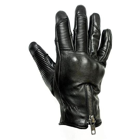 Gants moto été cuir pleine fleur Helstons modèle de réservoir noir