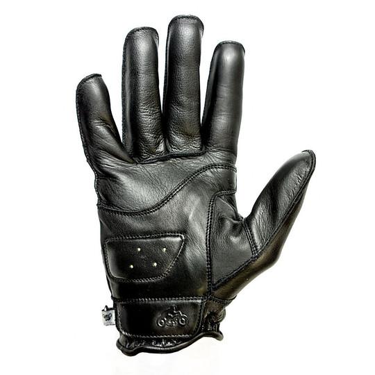 Gants moto été cuir pleine fleur Helstons modèle Hiro noir