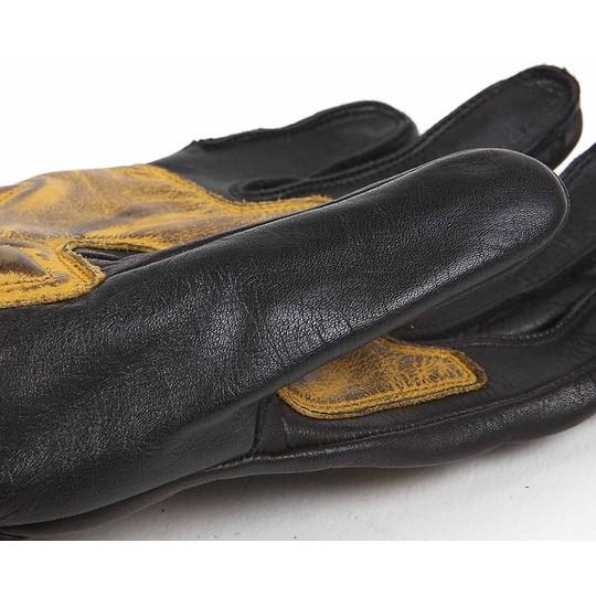 Gants moto été cuir pleine fleur Helstons modèle Vitesse Pro noir or