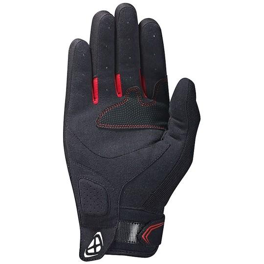 Gants moto été tissu Ixon RS LIFT 2.0 noir blanc rouge