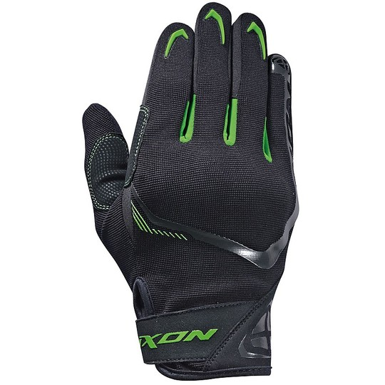 Gants moto été tissu Ixon RS LIFT 2.0 noir vert