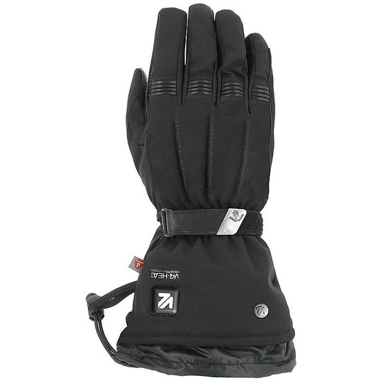 Gants moto chauffants en tissu VQuattro METROPOLIS 18 Noir