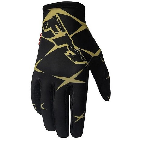 Gants Moto Cross Enduro Fm Racing X26 RACE 010 Noir Or