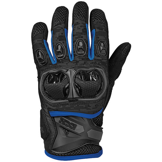 Gants moto Cross Enduro Ixs TOUR LT MONTEVIDEO AIR S Noir Bleu