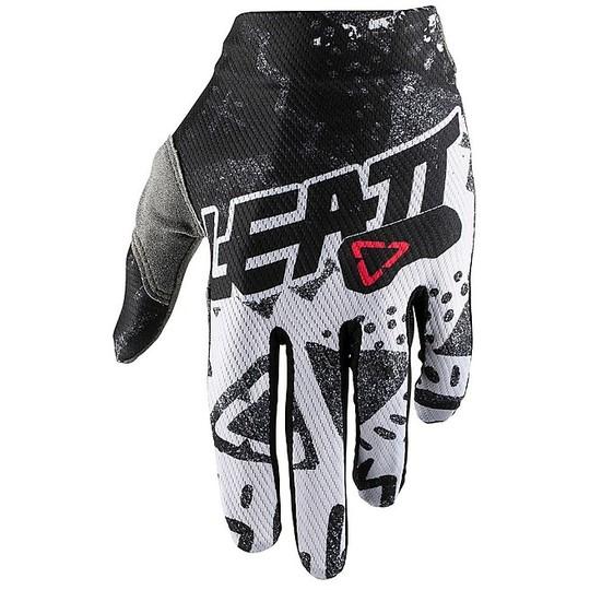 Gants moto Cross Enduro Leatt GPX 1.5 Grip Tech Blanc