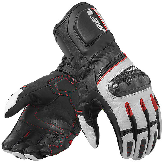 Gants moto cuir Racing Rev'it RSR 3 Noir Rouge