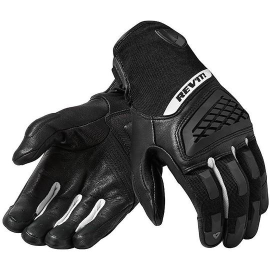 Gants moto cuir Sports Rev'it NEUTRON 3 Noir Blanc