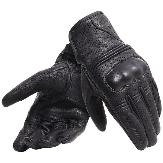 Gants moto en cuir Dainese CORBIN AIR UNISEX Noir
