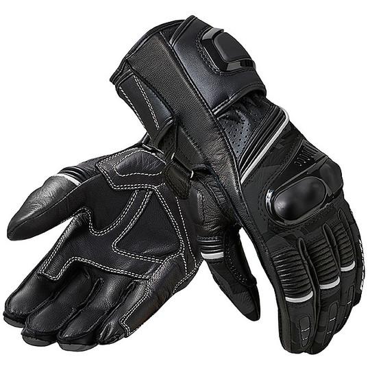 Gants moto en cuir pour femmes Racing Rev'it XENA 3 LADIES Noir Gris