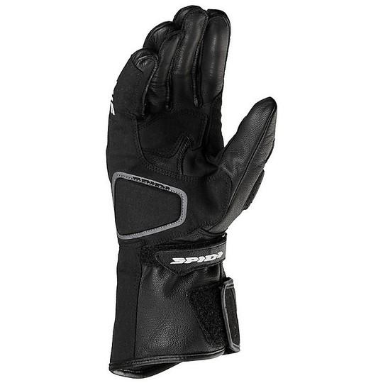 Gants moto en cuir Racing Spidi STR-5 noir