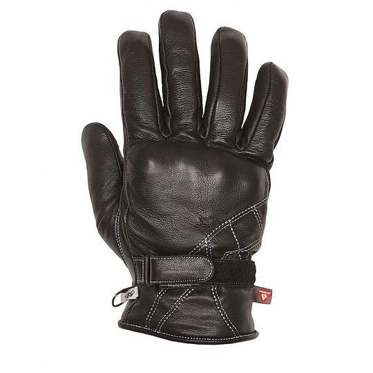 Gants moto hiver cuir Helstons Wave Model Blacks