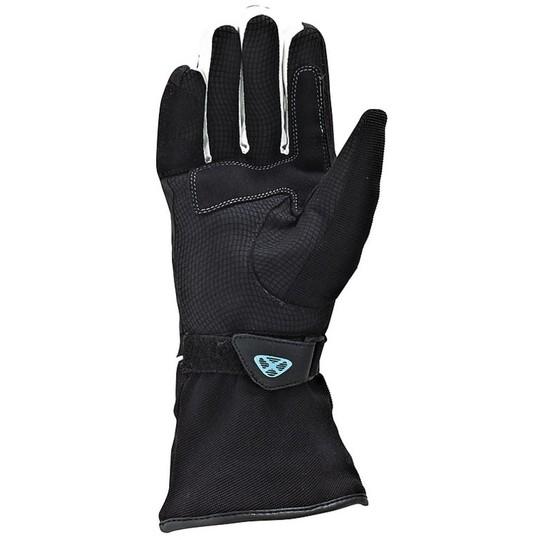 Gants moto hiver femme Ixon Pro HP Noir / Blanc / Turquoise
