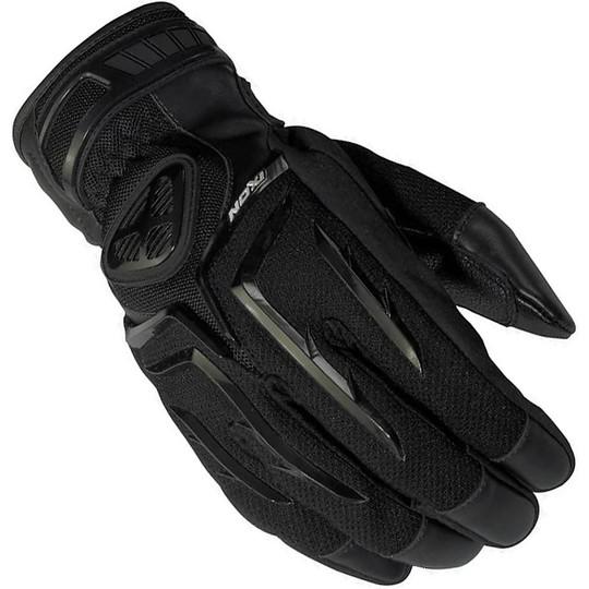 Gants moto Ixon Summer en tissu et cuir RS Whip Hp Black