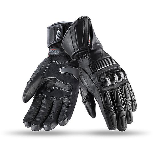 Gants techniques de moto Winter Seventy Racing avec protections en tissu R11 approuvées noires