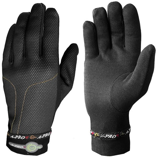 Gants thermiques A-Pro THERMO GLOVE noirs coupe-vent
