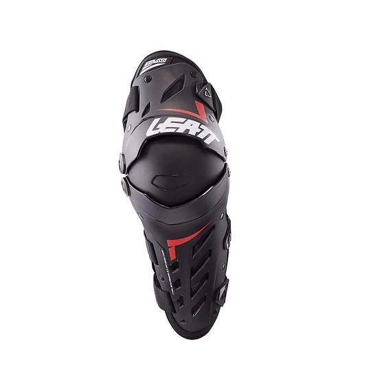 Genouillères et protège-tibias Moto Cross Enduro Leatt Dual Axis Noir Rouge