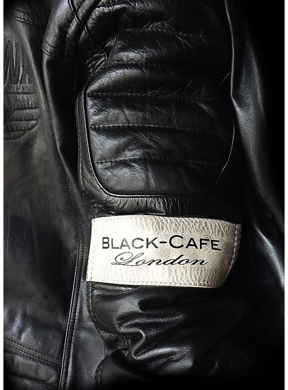 BLACK-CAFE London Retrò Moto Giacca di pelle