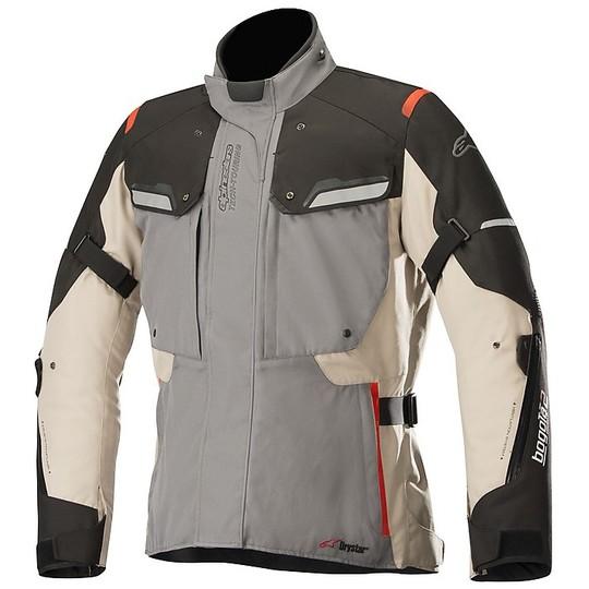 Giacca Moto In Tessuto Alpinestars Bogotà v2 Drystar Nero Grigio Chiaro