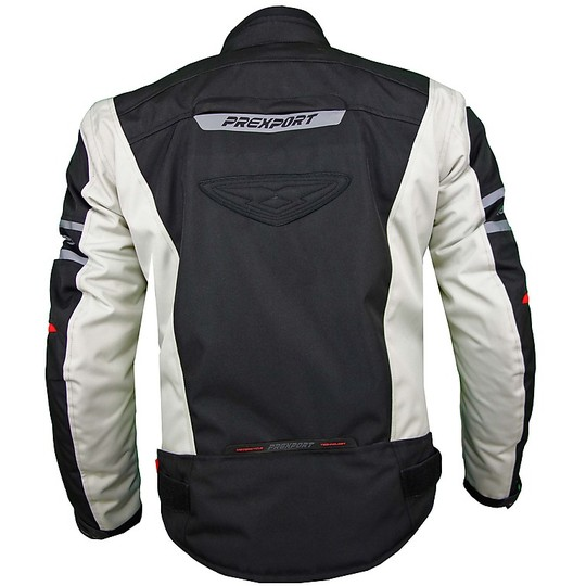 Giacca Moto In Tessuto Prexport Milano Impermeabile Ice Black