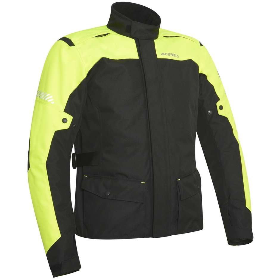 Giacca Moto in Tessuto Touring Acerbis Discovery Forest CE Giallo Fluo