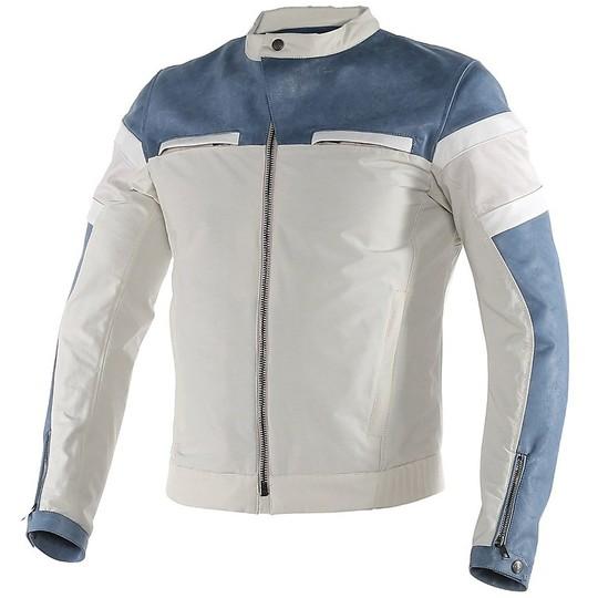 Quing Pelle Vera Dainese Blu Zhen Modello Giacca In Moto tpq0R0