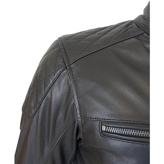Giacca Moto in Vera Pelle Morbidissima PXT Diamond Black Vintage