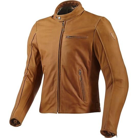 Rev'it E Giacca Vera Moto In Pelle Flatbush Abbigliamento Camel wqAxC6IxO