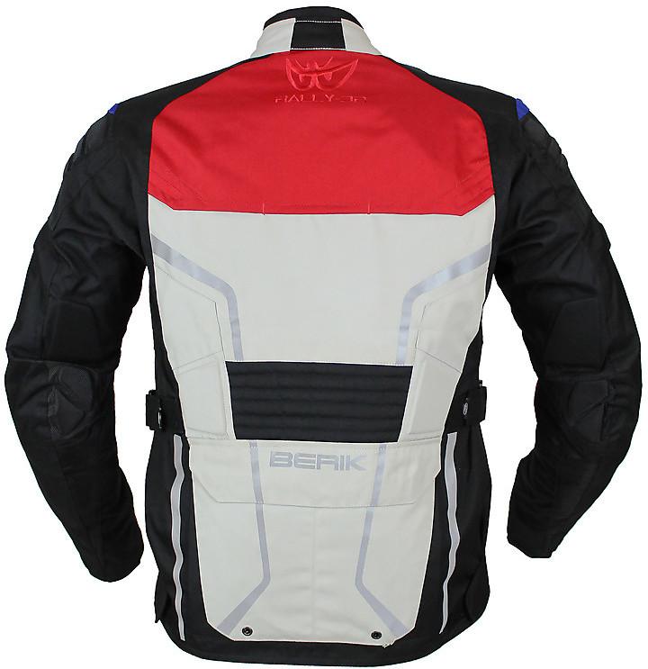Giacca Moto Tessuto Wp Berik Patrol  NJ 183320 Grigio Blu Rosso Touring