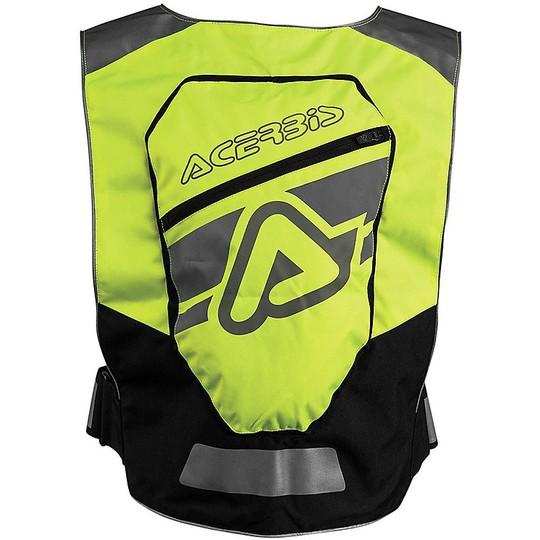 Gilet de moto technique Freeweay haute visibilité avec protection dorsale