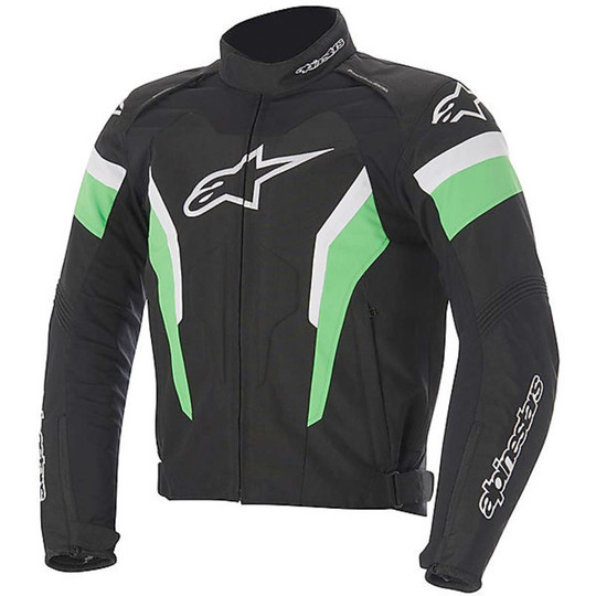 giacca moto nero verde
