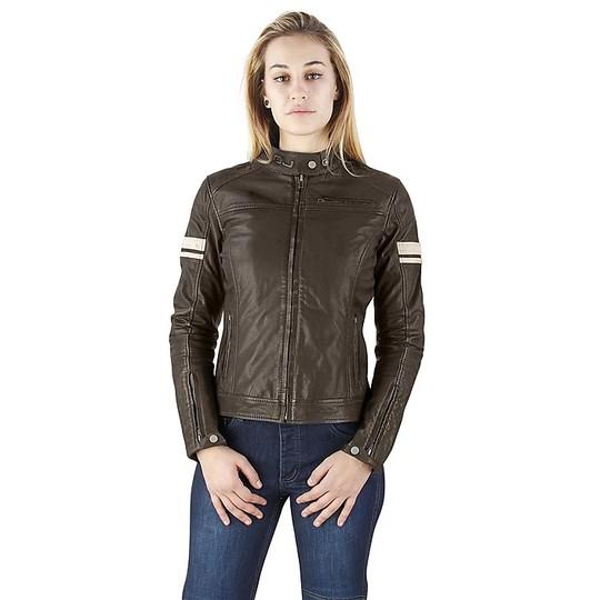 online store f4e27 f9879 Marrone Oj Mythos Abbigliamento Moto Donna Giubbotto In Lady ...