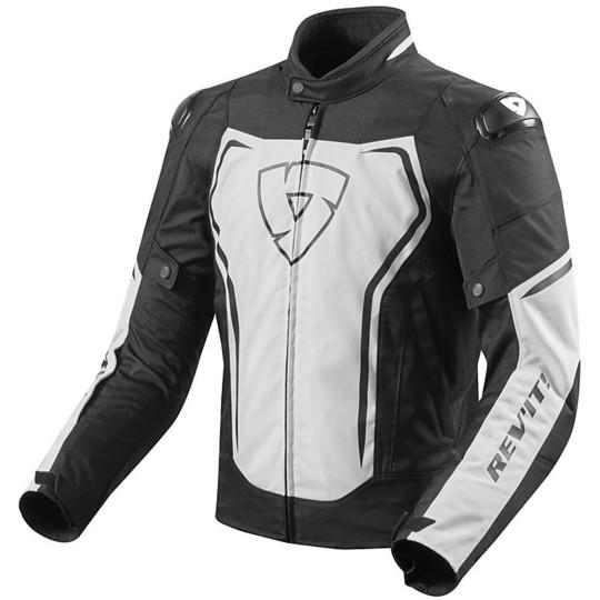 Giubbotto Moto In Tessuto Sportivo Rev'it VERTEX TL  Bianco Nero