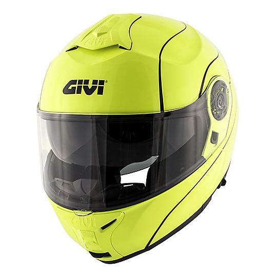 Givi X.21 Challenger Neon Yellow Double Modular Casque de moto