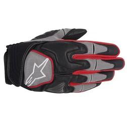 Guanti Moto Alpinestars Scheme Kevlar Gloves Con Protezioni  Grigio-Rosso Alpinestars