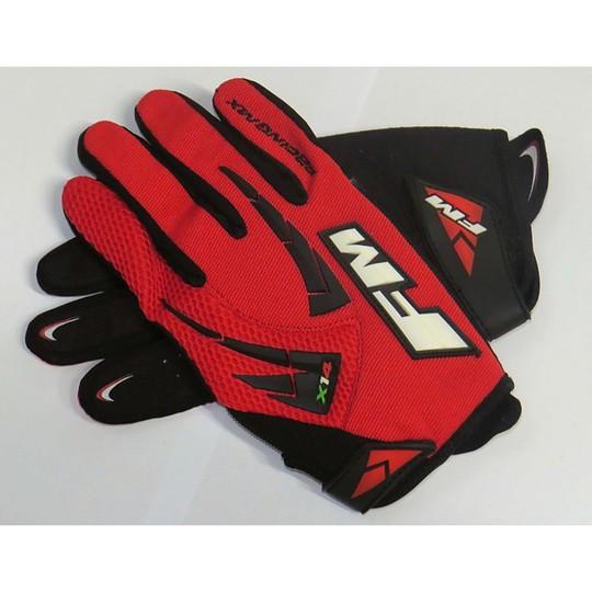 Guanti moto Cross Enduro Fm Racing X16 Rosso