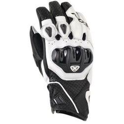 Guanti moto Estivi Ixon In Pelle RS Sly Hp Nero/Bianco Con protezioni Ixon