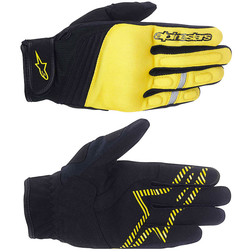 Guanti Moto Tecnici Alpinestars Asama Air Glove Nero-Giallo Hi Vision  Alpinestars
